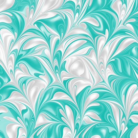 Aqua-PSwirl fabric by modernmarbling on Spoonflower - custom fabric