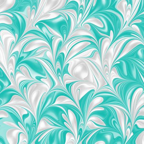 Aqua-PSwirl fabric by modernmarblingdesign on Spoonflower - custom fabric
