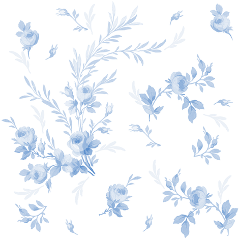 Theodora Blueberry Blue fabric by lilyoake on Spoonflower - custom fabric