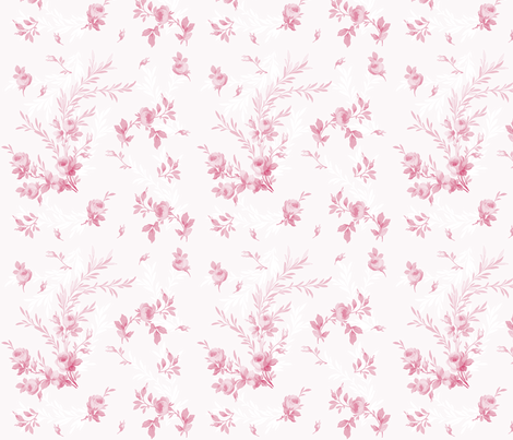 Theodora Sorbet Rose fabric by lilyoake on Spoonflower - custom fabric