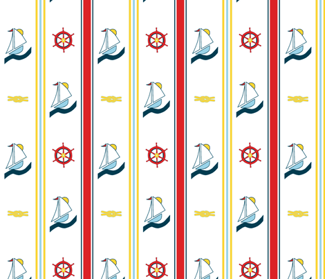 Nautical Stripes fabric by mbsterling on Spoonflower - custom fabric