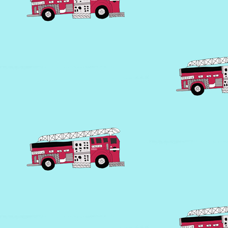 Firetruck fabric by captiveinflorida on Spoonflower - custom fabric