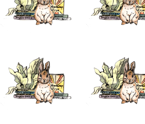 Revolutionary Bunny fabric by sdark on Spoonflower - custom fabric