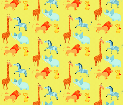 Animals fabric by popstationery&gifts on Spoonflower - custom fabric