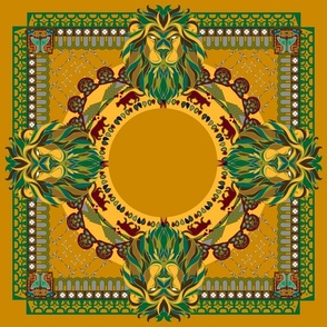 African style_lion_yellow