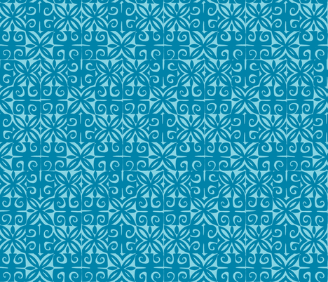 Sophista-tiki signature blue- fabric by sophista-tiki_by_dawn_frasier on Spoonflower - custom fabric