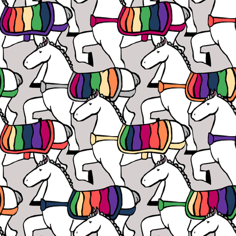 Prancing Horses fabric by pond_ripple on Spoonflower - custom fabric