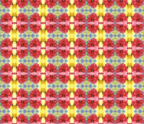 water_color_red_flower_mirror fabric by vos_designs on Spoonflower - custom fabric