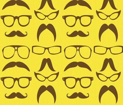 Geek Chic fabric by popstationery&gifts on Spoonflower - custom fabric