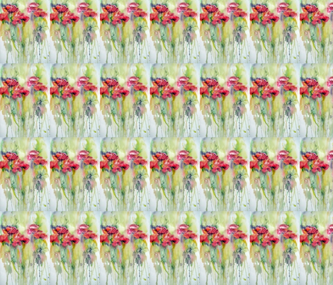 watercolor_poppies fabric by vos_designs on Spoonflower - custom fabric