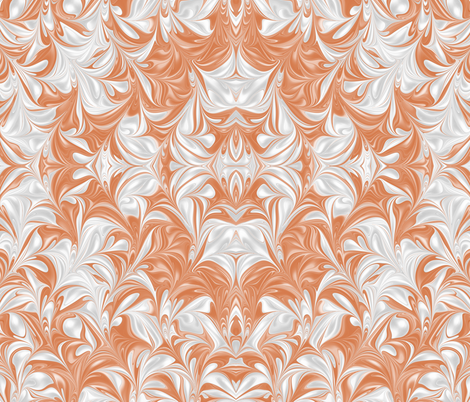 Apricot-PSwirl fabric by modernmarblingdesign on Spoonflower - custom fabric