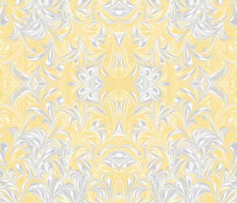Banana-PSwirl fabric by modernmarblingdesign on Spoonflower - custom fabric