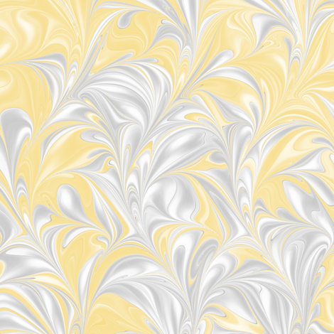 Banana-PSwirl fabric by modernmarbling on Spoonflower - custom fabric
