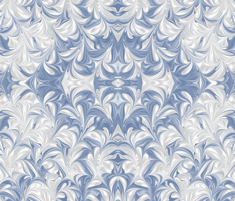 BlueJay-PSwirl fabric by modernmarblingdesign on Spoonflower - custom fabric