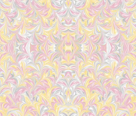 BananaBlush-PSwirl fabric by modernmarblingdesign on Spoonflower - custom fabric