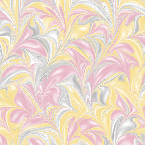BananaBlush-PSwirl fabric by modernmarbling on Spoonflower - custom fabric