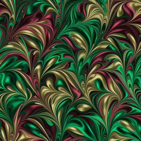 Holiday-Swirl fabric by modernmarbling on Spoonflower - custom fabric
