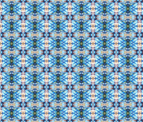 blue watercolor church window fabric by vos_designs on Spoonflower - custom fabric