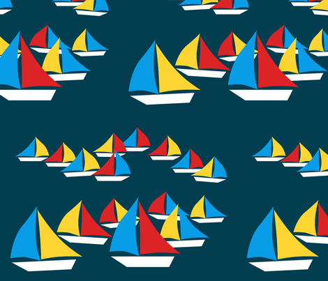A Sailaway fabric by cison on Spoonflower - custom fabric