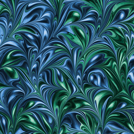 PM003-Swirl fabric by modernmarblingdesign on Spoonflower - custom fabric