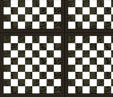 Chess Board -Square foot brown fabric by wren_leyland on Spoonflower - custom fabric