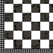 Chess Board Houndstooth B&W 12""