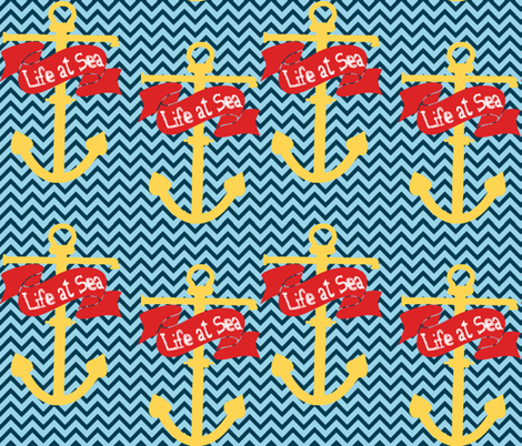 Life At Sea fabric by popstationery&gifts on Spoonflower - custom fabric