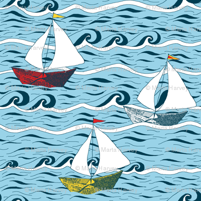 Newspaper Boat - Sailing