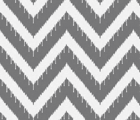 Charcoal Beaded Ikat fabric by sparrowsong on Spoonflower - custom fabric