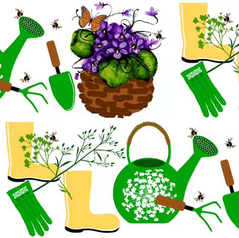 spring gardener fabric by paragonstudios on Spoonflower - custom fabric