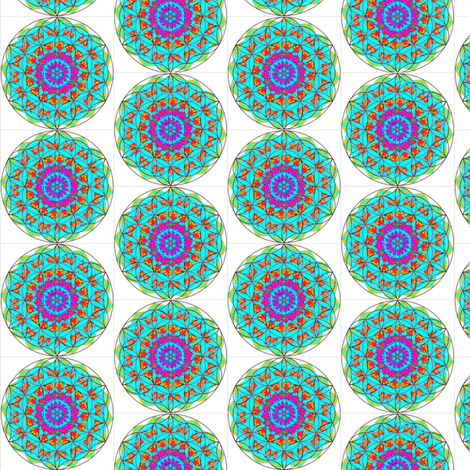 FLOWER OF LIFE 1 fabric by dovetail_designs on Spoonflower - custom fabric
