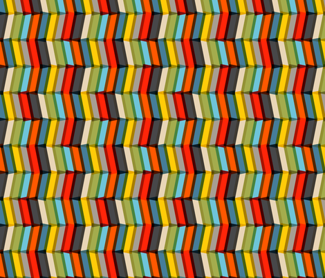 Play-Plax Chevron (Double Process) fabric by pennycandy on Spoonflower - custom fabric