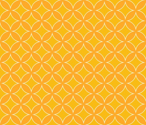 cathedral window sunny yellow fabric by katarina on Spoonflower - custom fabric