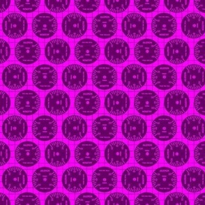Large Aileron Dots in Purple on Purple