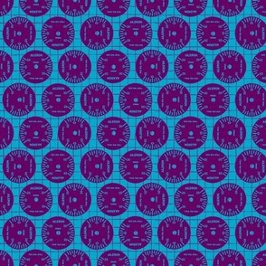 Large Aileron Dots in Purple on Blue