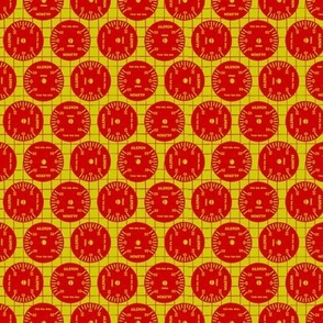 Large Aileron Dots in Red on Yellow
