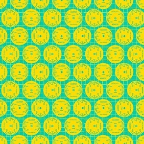 Large Aileron Dots in Yellow on Green