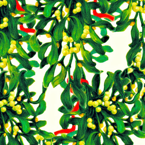 Mistletoe fabric by whimzwhirled on Spoonflower - custom fabric