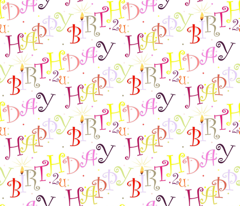 Happy_Birthday2U fabric by alfabesi on Spoonflower - custom fabric