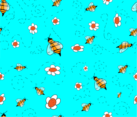 Coen's Busy Bees fabric by egprestonhouse on Spoonflower - custom fabric