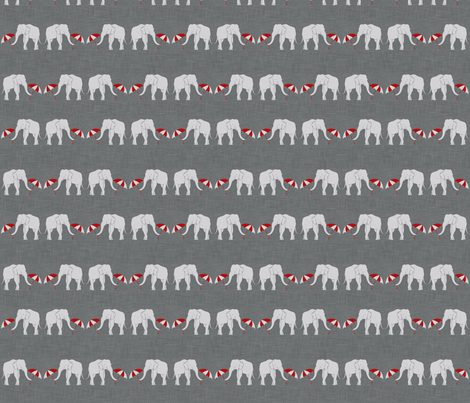 elephant_and_umbrella_spaced fabric by holli_zollinger on Spoonflower - custom fabric