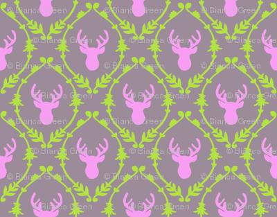 OH DEER (pink + green)