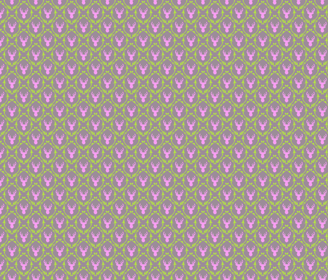 OH DEER (pink + green) fabric by biancagreen on Spoonflower - custom fabric