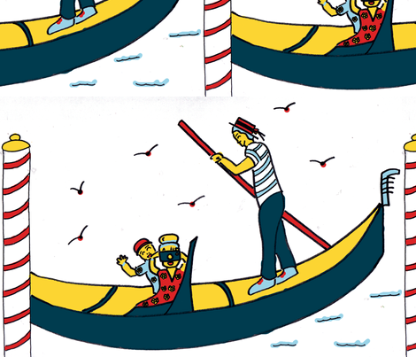 touristboat fabric by kiahkhan on Spoonflower - custom fabric