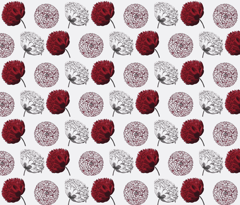 Poppies fabric by amyvail on Spoonflower - custom fabric