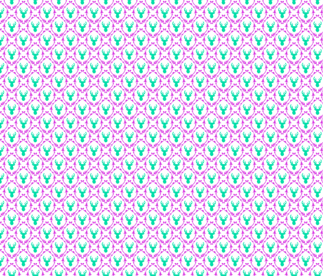 OH DEER (teal + purple) fabric by biancagreen on Spoonflower - custom fabric