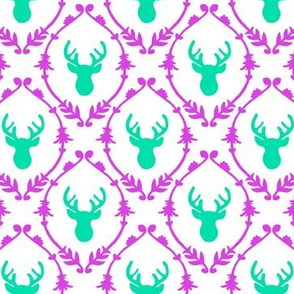 OH DEER (teal + purple)
