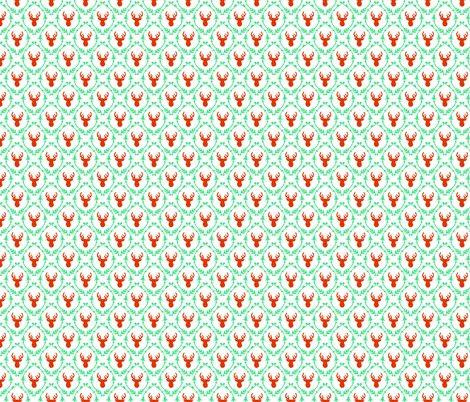 OH DEER (red + green) fabric by biancagreen on Spoonflower - custom fabric