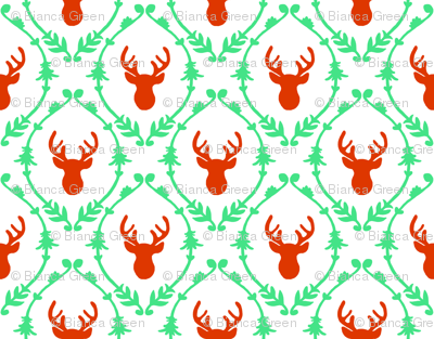 OH DEER (red + green)