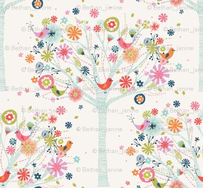 pretty tree pattern